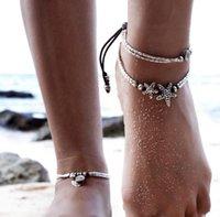 Anklets 2021 Pulsera vintage Joyería de pie Joyería Retro Para Mujeres Chicas Tobillo Cadena De Pierna Charm Bead Beads Beach
