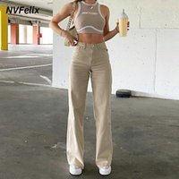 Fashion Loose Jeans For Women High Waist Stretch Wide Leg Femme Trousers Casual Comfort Denim Mom Pants 2021 Washed Jean Pants