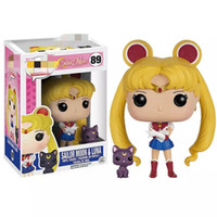 10cm Japanese Anime Sailor Moon Luna Cat Vinyl Action Figure brinquedos Collection Model Toys for Girls Birthday gift X0503