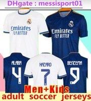 2021/2022 Real Madrid Futbol Formaları 21/22 Tehlike Benzema Camiseta de Futbol Eve Uzakta Üçüncü Rodrygo Modric Futbol Gömlek