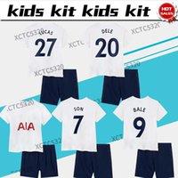 21 22 Çocuk Kiti Futbol Forması Spurs Kane Bale Son Lo Celso Del Çocuk Futbol Gömlek Ev Beyaz Satılık