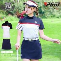 PGM vestido de golfe senhoras manga curta t-shirt primavera e verão manga curta vestuário mulheres + saia esportiva fabricante