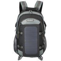 Mochila grande viagens caminhadas 6.5w 6v painel solar multipockets saco portátil unisex camping sacos de ombro esporte mochila