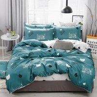Bedding Sets 42Cartoon Black Printing Panda Children Boy kids Set Duvet Cover Bed Sheet Pillowcase Linens Bedclothes