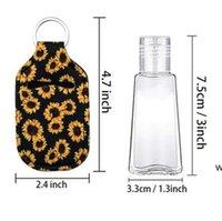 Sanitizer Holder Neoprene Hand Sanitizers Bottle Party Favor Lipstick Lip Cover Handbag Keychain Printing Chapstick 30ml DHE6419