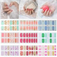 Stickers & Decals Nail Accesoires Manicure DIY 3D Wrap Patterned Nails Full Cover Glitter Flower