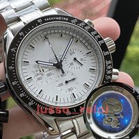 Alta Qualidade Homens Mens Luxo \ Rwatch Cerâmica Bezel Cronógrafo Cronógrafo VK Quarz Movimento Master \ rFabric James Bond 007 Relógios Montre de Luxe