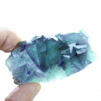 الكريستال الطبيعي فلوريت الأصلي الحجر زخرفة كليدر الطاقة شفاء الجدول تأثيث هدية