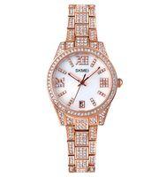 SKMEI 1741 Women Watches Luxury Diamond Brand Top Fashion Stainless Steel Ladies Quartz Wristwatches Relogio Feminino