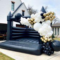 Mais novo Outdoor Inflável Casamento Bouncer Preto Bounce Casa Jumper Castelo Bouncy para Festa