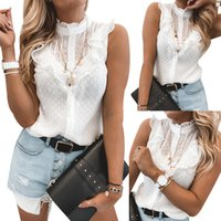 Women Elegant Solid Color Ruffle Blouse Shirt Summer O Neck ...