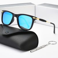 Brand design classico rotondo occhiali da sole polarizzati UV400 UOMO UOMO E PENSIONE DOMENDALE Lente di vetro a colori Guida Goggles con scatola 2148