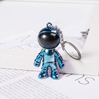 Party Favor astronaut keychain Black Trend personality three-dimensional creative car pendant men and women necklace bag accessories RRD7714