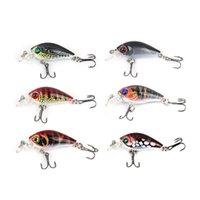 1PCS 4.5CM 4G Hard Crank Fishing Lure Crankbait Treble Hooks 3D Eyes Bait Fishing Tackle Wobblers Crankbait Minnows