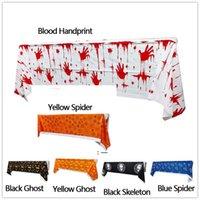 Halloween Party Spider Table Decor Hallowmas Descartável Toalha de Tablecloth Esqueleto Impresso Restaurante Decoração de Cozinha BWD9564