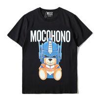 Новое лето 2021 мужская и женская мода бренд персонализированные печатные трансформаторы медведь с коротким рукавом футболка свободная шея
