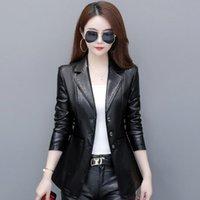 Genuine Leather Jackets Coats For Womne Winter Slim 2021 Spring Short Design Ladies Black Jacket Women's