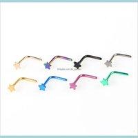 Kadınlar Yıldız 7 Şekilli Septum Piercing Vücut Takıları N92na IXQLD