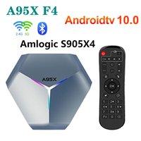 a95x f4 rgb amlogic s905x4 الذكية الروبوت 10 مربع التلفزيون 4 كيلو hd youtube 2 جيجابايت رام 16 جيجابايت rom wifi مجموعة أعلى مربع 2 جرام 16g vs a95x f3