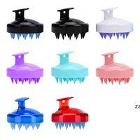 Silicone Shampoo Brush Shampoo Scalp Massage Brush Hair Washing Comb Body Bath Spa Slimming Massage clean Brushes Scrubbers HWF8805