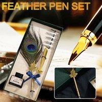 Canetas de fonte de caligrafia de caneta de caligrafia de caligrafia de caligrafia de caneta de tinta caixinha de papelaria com 5 nibs
