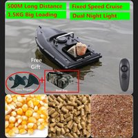Intelligent Upgraded Double Motors Radio Remote Control Fish Finder RC Bait Boat 500M One Key Fixed Speed Cruise RC Fishing Boat X0522