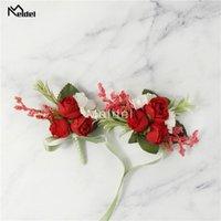 Wedding Corsages And Boutonnieres Women Dress Brooch Wristbands Flore Men Buttonholes Party Prom Wrist Bracelet Decorative Flowers & Wreaths
