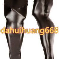 Black Shiny Metallic Mummy Suit Costumes Borse a pelo Unisex Outfit Halloween Party Cosplay DH116