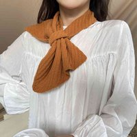 Autumn And Winter Korean style Fashion Knitted Pure Color Small Ear wome Scarf women