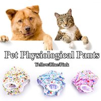 Dog Apparel Animal Print Princess Physiological Pants Pet Sanitary Panties Breathable Cotton Menstrual Bitch Hygiene Briefs