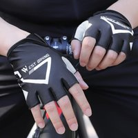 Cycling Gloves Half Finger Breathable Shockproof MTB Road Bike Sports For Non-Slip Equipment Supplies
