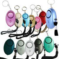 130db Egg Shape Self Defense Alarm Girl Women Security Protect Alert Personal Safety Scream Loud Keychain Alarms DHB10279