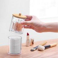 Storage Boxes & Bins Transparent Makeup Box Cotton Swab Pad Organizer Brush Plastic Lipstick Display Stand Bathroom Accessories