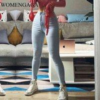 Womengaga Herbst Wintermode Slim Hip Hub Hohe Taille Skinny Sexy Elastizität Jeans Denim Pencil Hosen GECV
