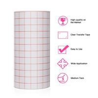 Janela adesivos adesivos transferência de papel rolo de papel transparente w / vermelho Alinhamento de Vermelho Mid Tack Decalques folha DIY 30 * 20cm / 100cm