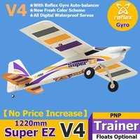 FMS RC Airplane Plane Super EZ V4 Trainer Beginner With Gyro Floats Optional 3S 4CH PNP Model Hobby Aircraft Avion EPO Easy L0306