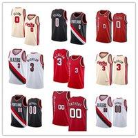 2021 de alta qualidade Damian Lillard Basketball jerseys; o homem de balanço costurado CJ 3 McCollum Carmelo 00 Anthony S-XXL