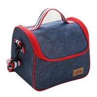 Sacs de rangement Sacs de stockage isolé Portable Boîte à lunch Boîte de pique-nique Sac de pique-nique Case à la chaleur Fresh Garder la chaleur Bento fourre-tout en plein air