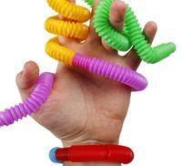 Mini Pop Tube Tube Fidget Twist Tubi Sensory Toy Giocattolo Dito divertimento gioco Stress Stress Squeeze Tubi Stretch Telescopico soffietto per bambini e autismo Giocattoli Ragazzi Ragazze
