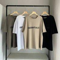 20sS Ins Frühling Sommer T-shirt Hip Hop Angst vor Gott Front Essentials 3D Silikon T-Stück Skateboard T-shirt Nebel Männer Frauen Kurzarm Casua 4OTV #