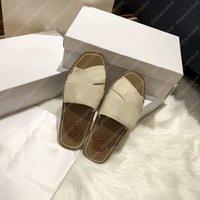 2021 Kadınlar Slaytlar Düz Sandalet Odunsu Mule Tuvalde Espadrille Luxurys Tasarımcılar Kaydırıcılar Sandalias Sandale Tasarımcı Ayakkabı Sandales 2104061L