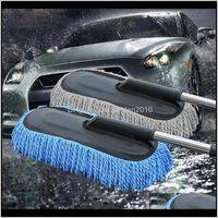 Brosses de cire spéciale Nettoyage de remorquage Mop Tweezers Soft Hair Rivactable Poignée longue poignée de poussière Dépousser la brosse de lavage de la voiture 201214 MNFEF JHRZH
