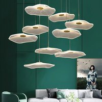 2021 Nordic crystal chandelier modern colored glazed Pendant Lamps living room villa double staircase luxury decorative light