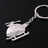 Hélicoptère créatif keychain métal chaîne de clés de zinc alliage unisexe porte-clés porte-clés de mariage fête de mariage cadeaux