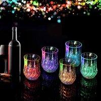 Tazza di birra induttiva Vino Vetro Vino Arcobaleno Colore LED Occhiali ananas lucenti Lampeggianti Lampeggianti Tazze di luce per vacanze