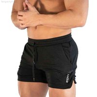 Men Fitness sports Shorts Man Summer Gyms Workout Male Breathable Mesh Quick Dry Sportswear Jogger Running Short pants