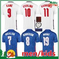 세계 2022 컵 케인 축구 유니폼 2021 Rashford Henderson Phillips 괴상한 영국 Sterling Sancho Mount Saka Jersey Football Shirt Kids Kit 여성 + 남성