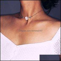 Pendant & Pendants Jewelrypendant Necklaces Boho Sea Shell Choker Necklace Women Natural Jewellery Chocker Simple Neckless For Girls Kolye J