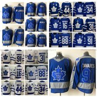 2021 Reverse Retro Toronto Maple Leafs 91 John Tavares (C) Hóquei Jerseys 34 Auston Matthews Mitthell Marner Frederik Andersen Morgan Rielly William Nylander Jersey