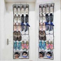 22 Porta tascabile appeso rack di stoccaggio non tessuto con sacchetto di gancio Pieghevole sacchetto di finitura della scarpa conveniente e pratico